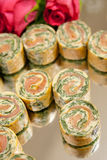 Salmon Canape Immagine Stock