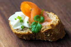 Salmon Canape Royalty Free Stock Photography