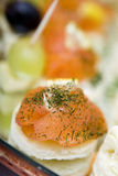 Salmon canapes Stock Photos