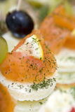 Salmon canapes Royalty Free Stock Photos