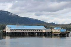 Salmon Cannery på Petersburg Alaska Fotografering för Bildbyråer