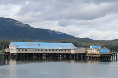 Salmon Cannery at Petersburg Alaska Stock Image