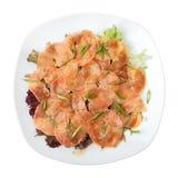 Salmon carpaccio Royalty Free Stock Photos