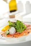 Salmon carpaccio стоковые изображения rf