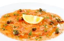 Salmon Carpaccio royalty free stock photography