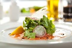 Salmon Carpaccio Stock Images