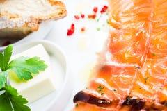 Salmon carpaccio Royalty Free Stock Photo