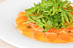 Salmon carpaccio Royalty Free Stock Image