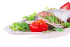 Salmon and caviar Royalty Free Stock Photo