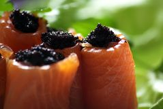 Salmon and caviar Royalty Free Stock Photo