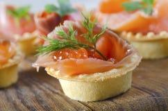 Salmon and caviar Stock Photos