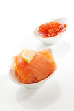 Salmon and caviar. Royalty Free Stock Photos