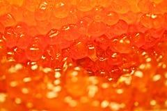 Salmon caviar. Macro shot of a treated salmon caviar Stock Image
