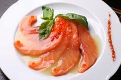 Salmon & caviar Royalty Free Stock Image