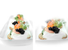 Salmon Caviar Montage II Royalty Free Stock Photo