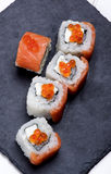 Salmon and Caviar Sushi Royalty Free Stock Photo