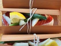 Salmon cedar wrap Stock Photos