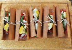 Salmon cedar wrap Royalty Free Stock Photography