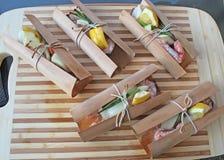 Salmon cedar wrap cooked Stock Photos