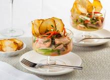 Salmon Ceviche Royaltyfria Bilder