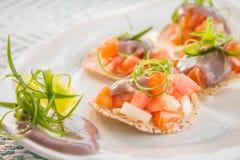 Salmon Ceviche stock photos