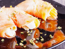 Salmon and cheese Royalty Free Stock Photo