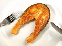 Salmon Chop asado a la parrilla foto de archivo libre de regalías