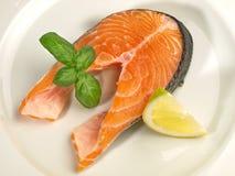 Salmon Chop - filetto di pesce fotografia stock libera da diritti