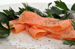 Salmon closeup Stock Photos