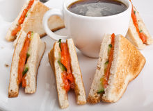 Salmon club sandwiches Stock Photography