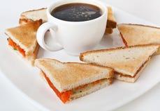 Salmon club sandwiches Stock Photos