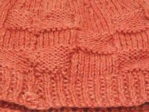Salmon color crochet Royalty Free Stock Photos