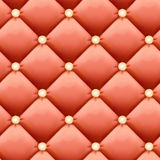 Salmon-colored Retro luxury background - Leather upholstery Seamless pattern Royalty Free Stock Photos