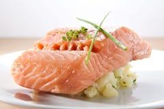 Salmon Confit Stock Image