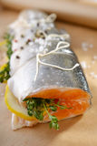 Salmon before cooking Royalty Free Stock Photography