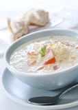Salmon and Corn Chowder Stock Images