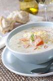 Salmon and Corn Chowder Royalty Free Stock Photo