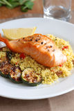 Salmon with couscous Stock Images