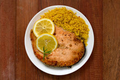 Salmon with couscous Stock Photo