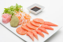 Salmon and crab stick Sashimi Stock Photos