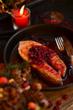 Salmon with cranberries Royalty Free Stock Photos