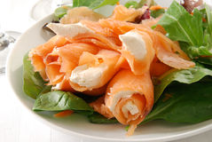 Salmon and cream cheese Royalty Free Stock Photos