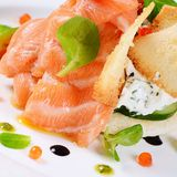 Salmon with cream cheese Stock Images