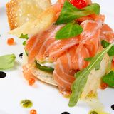 Salmon with cream cheese Royalty Free Stock Photos