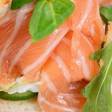 Salmon with cream cheese Stock Image