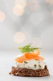 Salmon with cream cheese royalty free stock photo