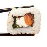 Salmon Cream Cheese Sushi Royalty Free Stock Image