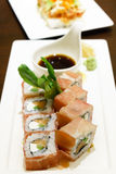 Salmon cream cheese sushi Royalty Free Stock Photo