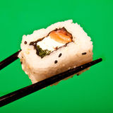 Salmon Cream Cheese Sushi Roll Royalty Free Stock Photos