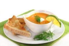 Salmon cream soup Royalty Free Stock Photo